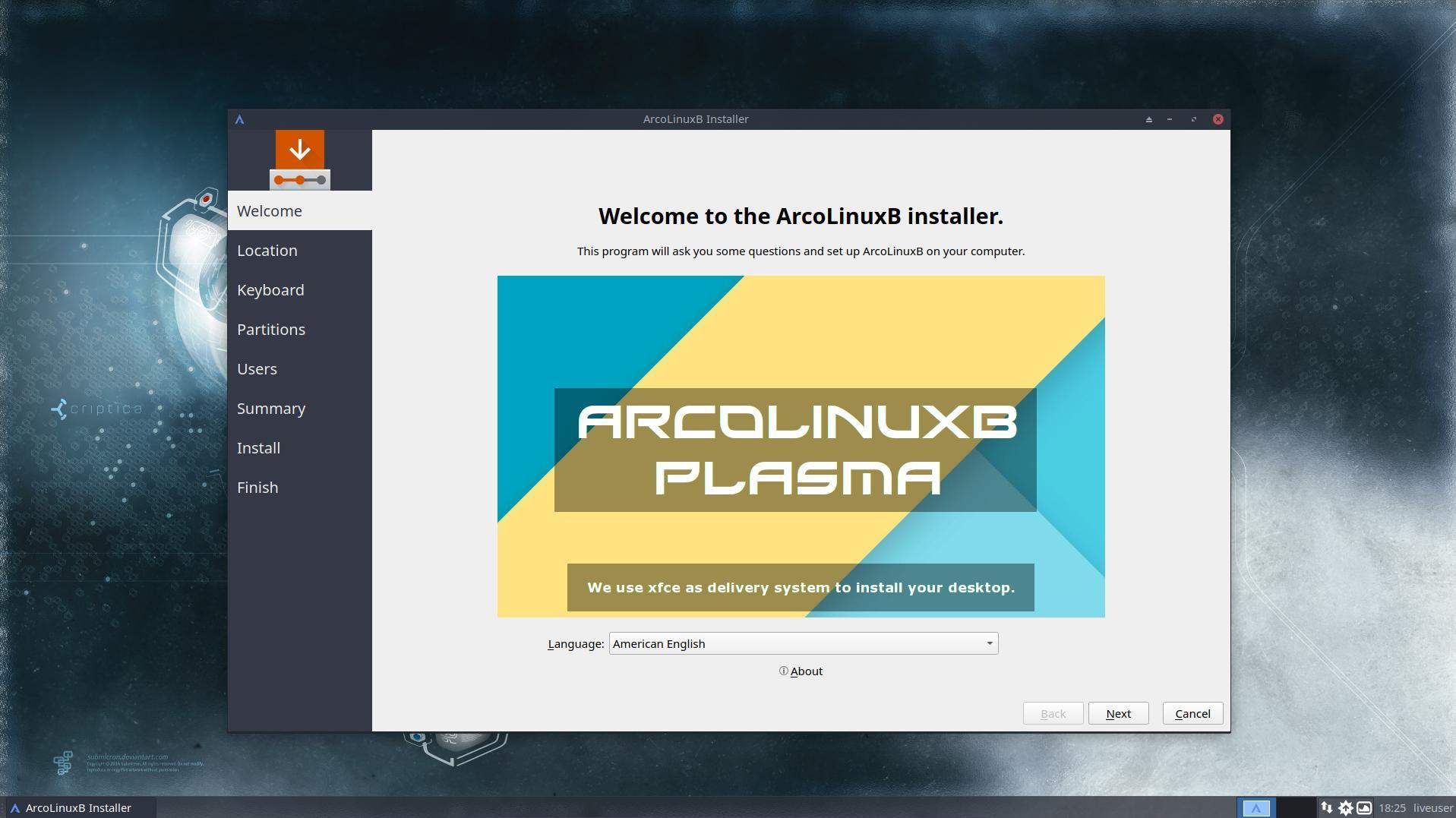 ArcoLinux -D -B 18 9   ArcoLinux info