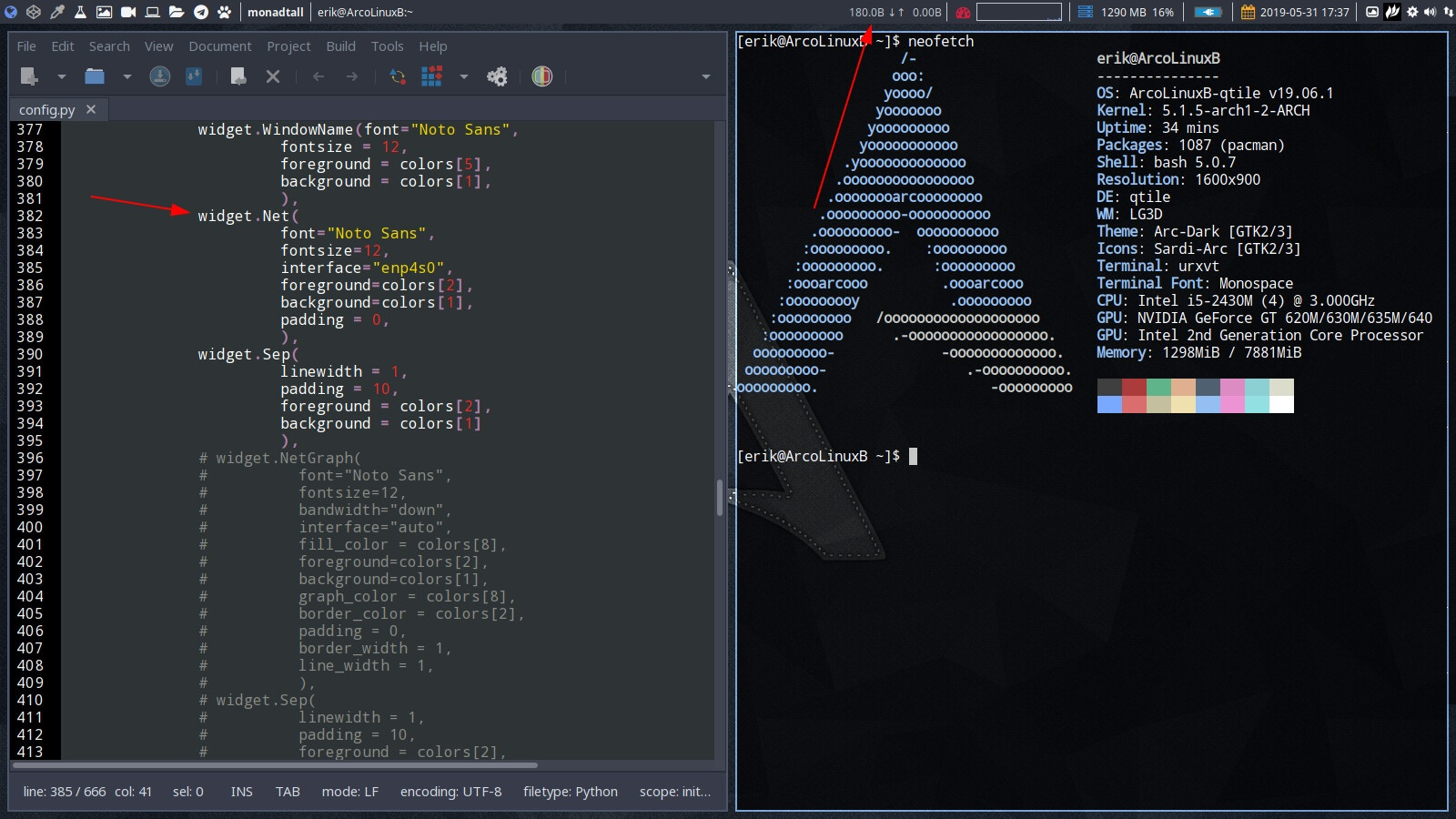 ArcoLinux -D -B 19 6 | ArcoLinux info